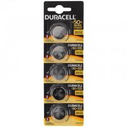 Батарейки CR2032 DURACELL упак 5 шт./3В. литиевые