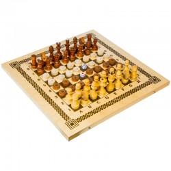 Игра набор 3 в 1 (нарды, шашки, шахматы) Орловские шахматы, с доской В-7