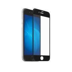 Защитное стекло для iPhone 7/8 Plus DF iColor-12 3D с цветной рамкой (fullscreen) Black