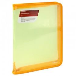 Папка на молнии А4 AXENT прозрачная желтая 1801-25-A