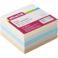 Блок для записей ATTACHE 9*9*5см. цветной (605141)
