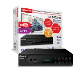 Цифровая приставка DVB-T2 D-Color DC1802HD, WiFi адаптер в комплекте
