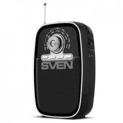 Радиоприемник SVEN SRP-445 черный/ FM/AM, USB, microSD, встроенный аккумулятор