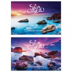 """Альбом для рисования 12л. """"Пейзаж. Sun & Sea"""" Спейс (А12 9037)"""