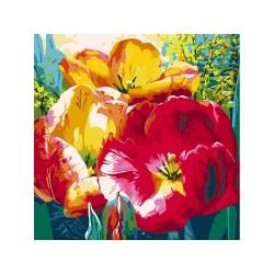 "Картина по номерам Color KIT  ""Нежные тюльпаны"" АС019"