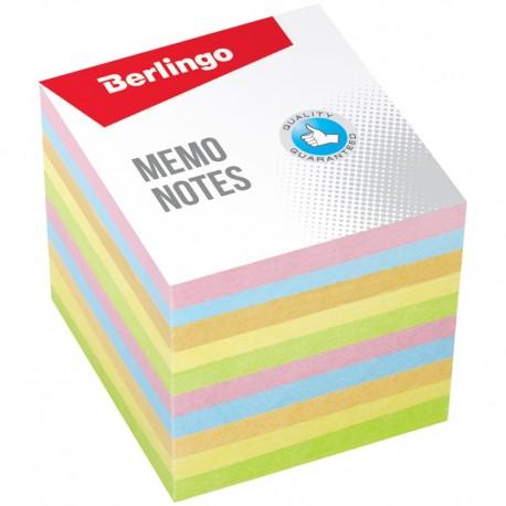 """Блок для записей BERLINGO 9*9*9см. """"Standard"""" 5 цветов (LNn 01259)"""