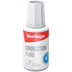 Корректирующая жидкость BERLINGO на химической основе, с кистью (KR530)