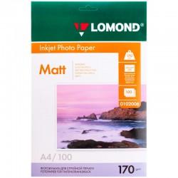 Бумага Lomond 170г/м2, A4, матовая, двухстор., 100л. (0102006)