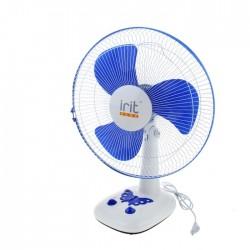 Вентилятор настольный 2 шт/кор Irit IRV-026 White/blue диам. лоп. 40см 40Вт, 3 скорости