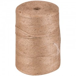Шпагат джутовый 2 нити, д. 830м,  бобина 1 кг, полированый (263733)