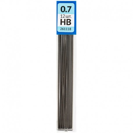 Грифель для карандаша 0,7мм. OfficeSpace 12шт, 261118