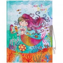 "Записная книжка А6 64л. ""Beauty mermaid"" метал. замок Спейс (NL150p 24636)"