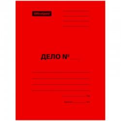 Скоросшиватель ДЕЛО Спейс 300г/м2, картон мелованный, красный, пробитый (195076)