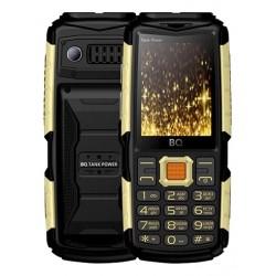 "Сотовый телефон BQ BQ-2430 Tank Power Black+Gold (2sim/2.4""/240*320/32Mb/microSD/0.3Мп/Bt/4000мАч)"