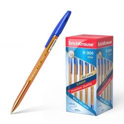 "Ручка шариковая Erich Krause ""R-301 AMBER"" 0,7мм. синяя (31058)"