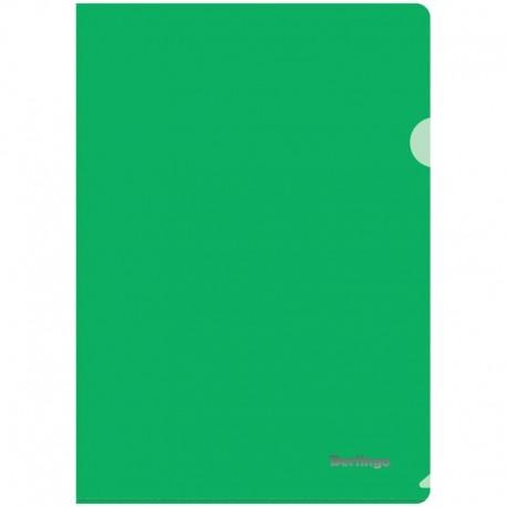 Папка-уголок А4 180мкм. BERLINGO прозрачная, зеленая (AGp 04104)