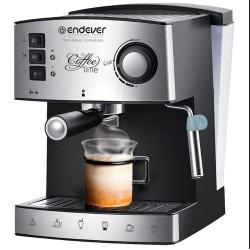 Kофеварка Endever Costa-1060 Black 1000Вт,1.6л,15 бар,рожковая,тип кофе: молотый