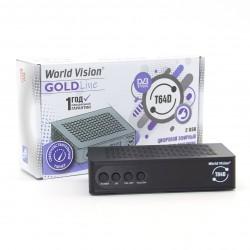 Приемник цифрового ТВ World Vision T64D/Возможность записи, DVB-T2, HD, HDMI, RСA, USB, шнур RCA