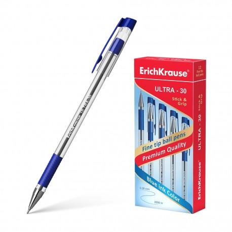 "Ручка шариковая Erich Krause ""Ultra L-30 Grip"" 0,7мм., синяя (19613)"