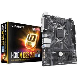 Материнская плата H310 Gigabyte H310M DS2 2.0 (Socket1151,v2,mATX,2DDR4,2PCI-E,SVGA,COM,PC2666)