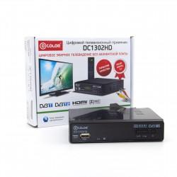 Приемник цифрового ТВ D-COLOR DC1302HD/DVB-T2, HD, HDMI, RСA, USB, шнур RCA