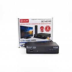 Приемник цифрового ТВ D-COLOR DC1401HD/DVB-T2, HD, HDMI, RСA, USB, шнур RCA