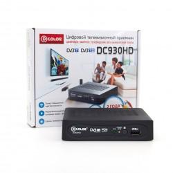 Приемник цифрового ТВ D-COLOR DC930HD/Возможность записи, DVB-T2, HD, HDMI, RСA, USB