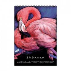 """Альбом для пастели А3 30л. """"Фламинго"""", 150 гр/м2, на гребне 49778/10"""