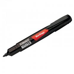 Маркер перманентный BERLINGO 2,0мм., пулевидный, черный (PM6104)