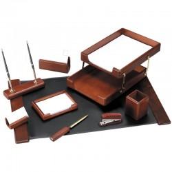 Набор настольный DELUCCI 9 предметов, темно-коричневый орех (MBn 09207)