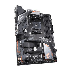 Материнская плата Gigabyte B450 AORUS ELITE (SocketAM4,AMD B450,ATX,4DDR4,2M.2,Gb,2PCI-E16,2PCI-E,DVI,HDMI,PC3200)