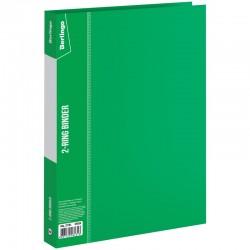 Папка 2 кольца BERLINGO 25мм. 700мкм. зеленая (ABp 22104)
