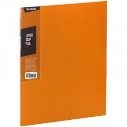 """Папка с боковым прижимом BERLINGO """"Color Zone"""", 17мм, 600мкм, оранжевая (ACp 01616)"""