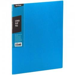 """Папка с боковым прижимом BERLINGO """"Color Zone"""", 17мм, 600мкм, синяя (ACp 01602)"""