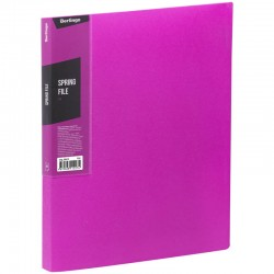 """Папка с пружинным скоросшивателем BERLINGO """"Color Zone"""", 17мм, 600мкм, розовая (AHp 00613)"""