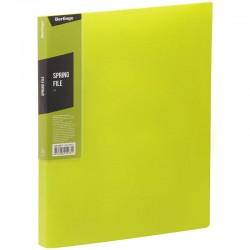 """Папка с пружинным скоросшивателем BERLINGO """"Color Zone"""", 17мм, 600мкм, салатовая (AHp 00619)"""