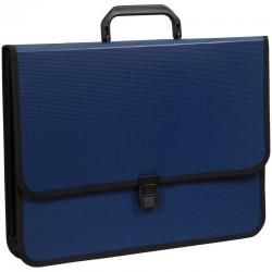 Папка-портфель OfficeSpace 2 отделения, на замке, синий 269266