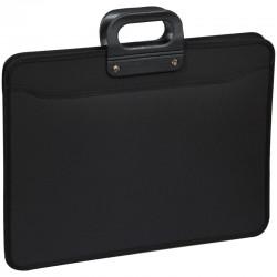 Папка-портфель OfficeSpace 3 отделения, А3, на молнии, черный 269210