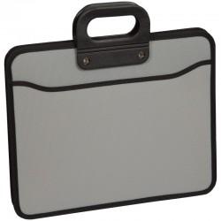 Папка-портфель OfficeSpace 3 отделения, на молнии, серый 269209