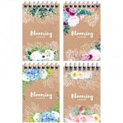 """Блокнот Спейс А7 40л. """"Цветы. Craft flowers"""" (Б7к40гр 24250)"""