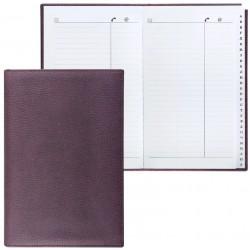 """Телефонная книга BRAUBERG А5 96л. """"Favorite"""" коричневый (123502)"""