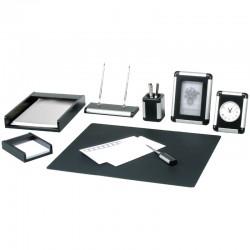 Набор настольный DELUCCI 8 предметов, черное дерево, серебристая отделка (MBn 08906)