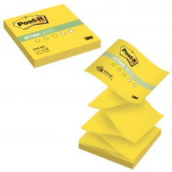 "Блок самоклеющийся Post-it Optima ""Лето"" (Z-блок), 76х76 мм, 100 л., желтый неон, R330-ONY"
