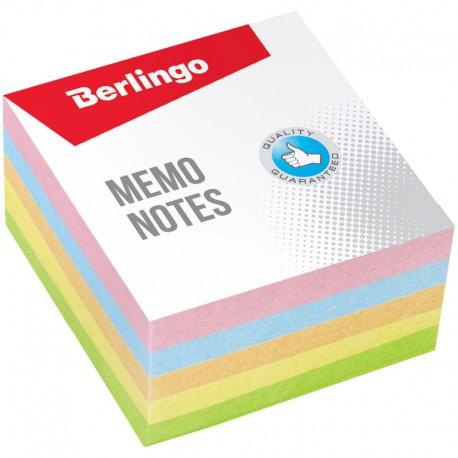 """Блок для записей BERLINGO 9*9*4,5см. """"Standard""""  цветной (LNn 01159)"""
