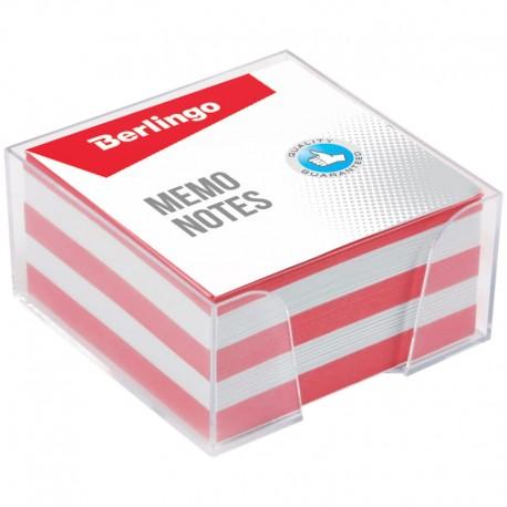 """Блок для записей BERLINGO 9*9*4,5см. """"Standard""""  пластиковый бокс, цветной (ZP7613)"""