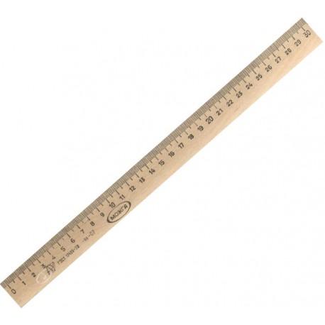 Линейка деревянная 30см. С07