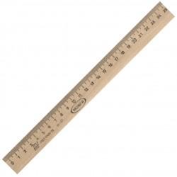 Линейка деревянная 25см. С06