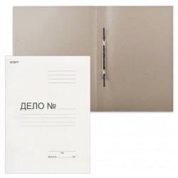 Скоросшиватель ДЕЛО STAFF 220г/м2, немелованный, белый, пробитый (124875)