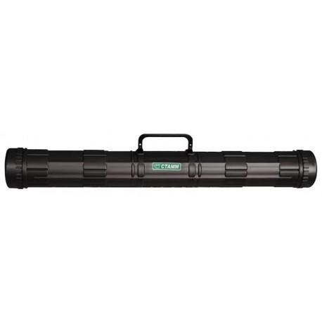 Тубус для чертежей СТАММ, диаметр 9 см, длина 68 см, А1, черный, с ручкой (ПТ21)