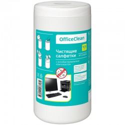 Салфетки чистящие влажные OfficeClean, универсальные, антибактериальные, в тубе, 100шт. (249230)